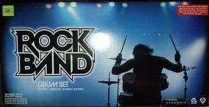 Das Rock Band Schlagzeug noch in der Verpackung